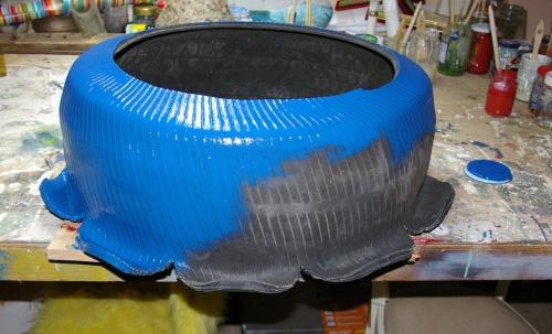 Gartendekoration Reifen blau Schlueter Design d