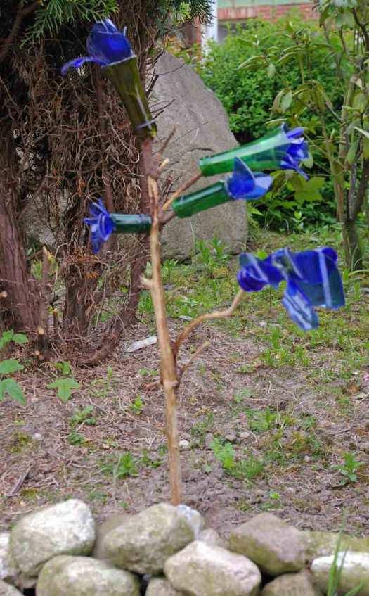 Glasblumen-Gartendekoration v