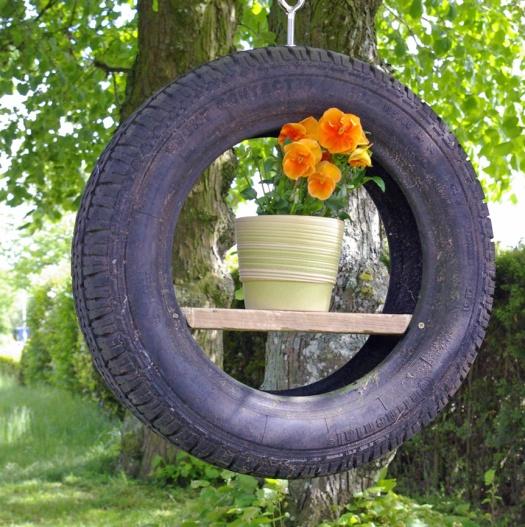 haengender Reifen upcycling b