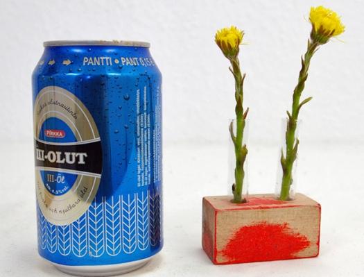 Mini Vase Holz Glas Blumen Schlueter Dithmarschen ms