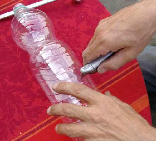 Plastikflasche-als-Blumentopf w