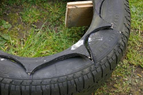 Reifen Muster ausschneiden f