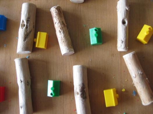 Treibholz Mobile Häuser Spielfiguren ms