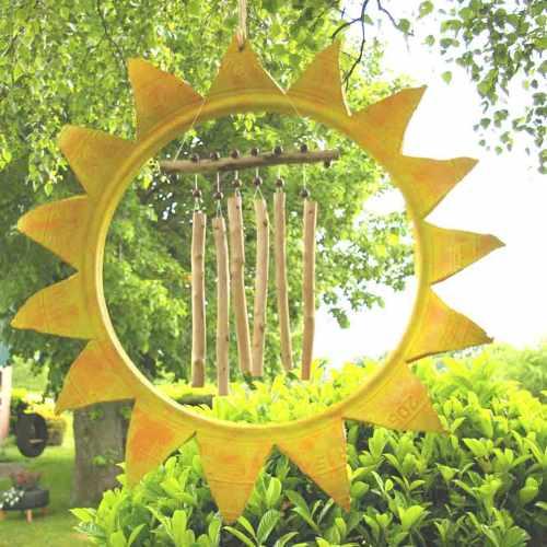 DIY: Eine Sonne für den Garten: Recycling Idee aus Autoreifen