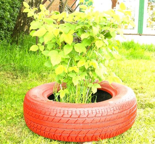 upcycling autoreifen rot schlueter