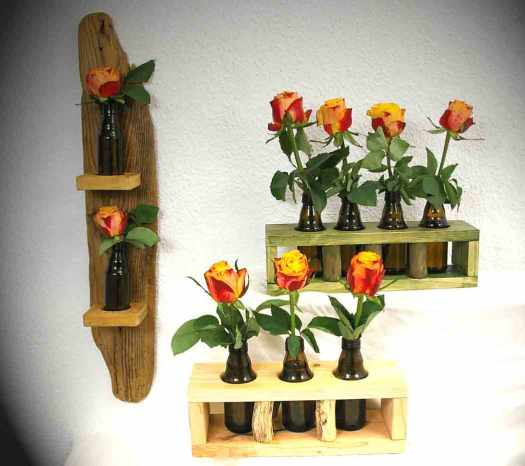 upcycling flaschen vase ideen