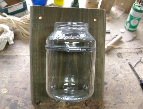 Vase Holz Glas Wand Schlueter Dithmarschen ms