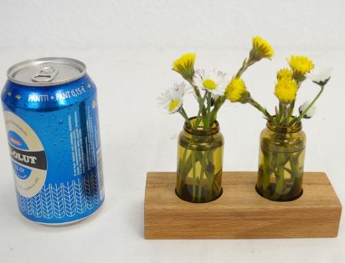 Vase klein braun Holz Schlueter Dithmarschen blog ms