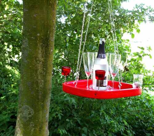 Gartentablett-haengend-rot schlueter