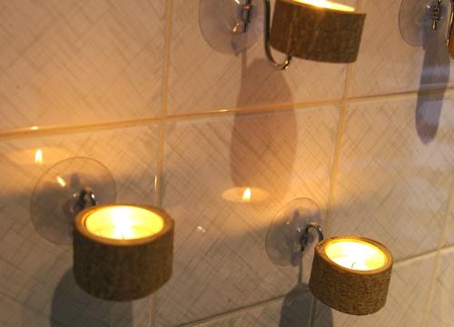 teelichthalter mit saugn pfen recyclingkunst und der. Black Bedroom Furniture Sets. Home Design Ideas