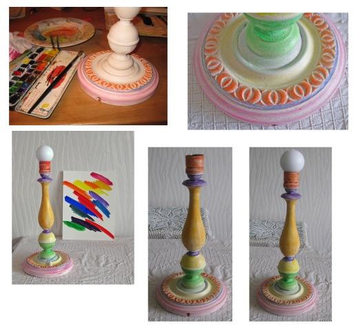 Collage Kerzenständer Lampe