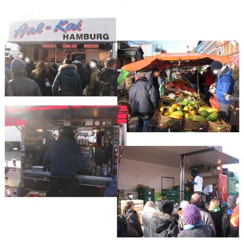 Hamburger fischmarkt im Frühling