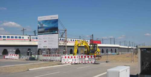 ein Zug in Hamburg