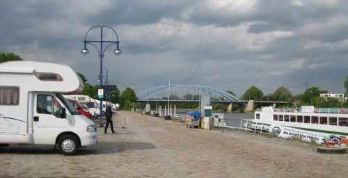 Magdeburg Wohnmobilstellplatz 2015