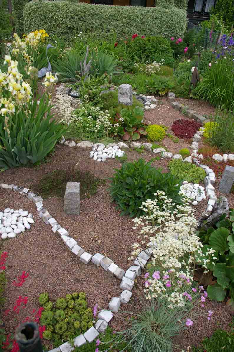 Steine als Gartengestaltung