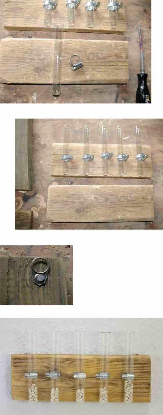 selbermachen wandvase mit Holz und glas
