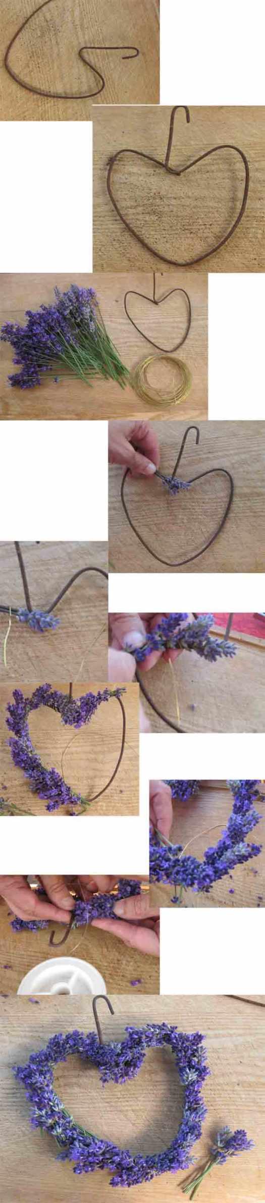ein Lavendelherz selbermachen