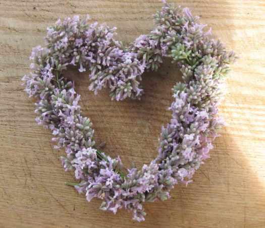 Lavendelherz basteln