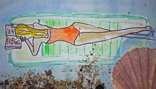 Skizze Sommer Luftmatratze
