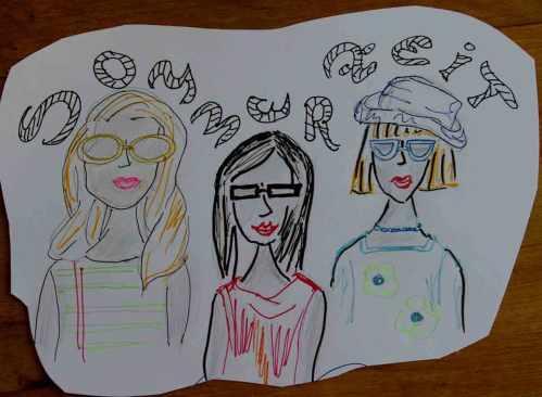 Skizze Sommerzeit 3 Frauen