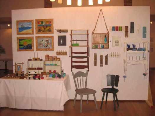 Stand Kunsthandwerkermarkt in Dellstedt