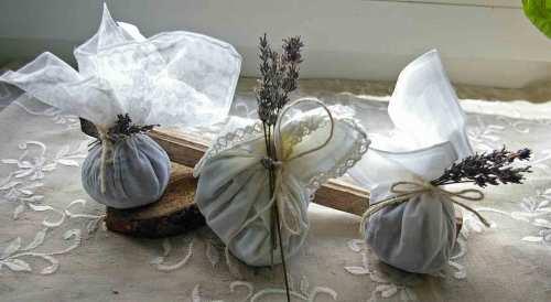 Lavendel Duft Beutel mit Spitzentaschentuch