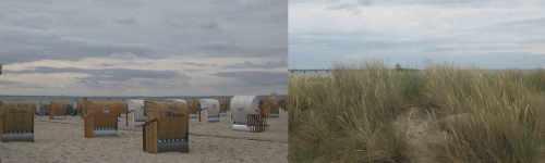 Strand Strandkörbe Dünen