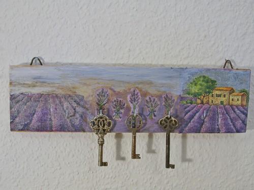 diy Hakenleiste mit Lavendel