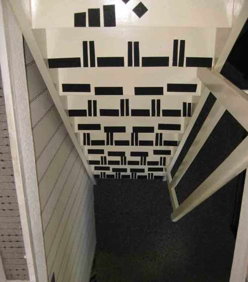 Treppe mit Anti-Rutschband