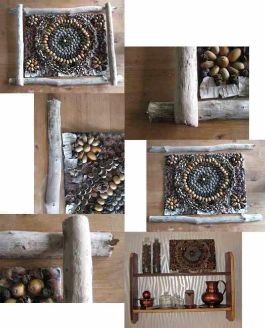 Mandala aus Herbstmaterialien basteln