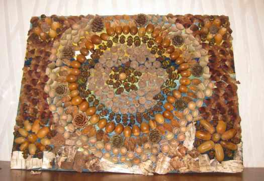 Mandala aus Naturmaterialien basteln