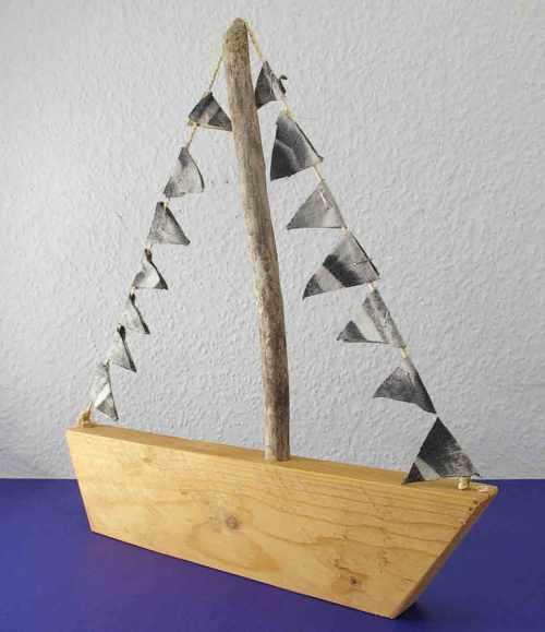 selbermachen Segelboot aus Holz