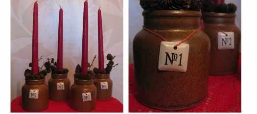 Adventsgesteck mit Tontoepfen selbermachen