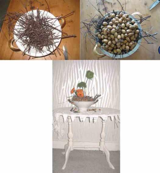 Herbstschale mit Suppenterrine