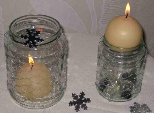 Kerzenhalter mit Draht