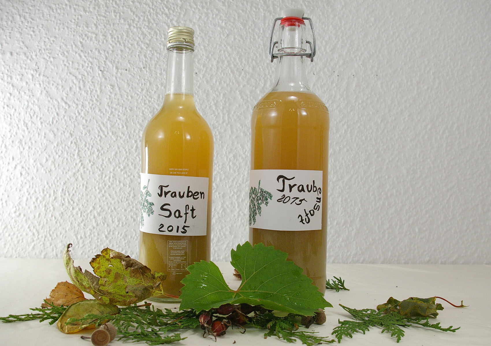 Traubensaft in Flaschen