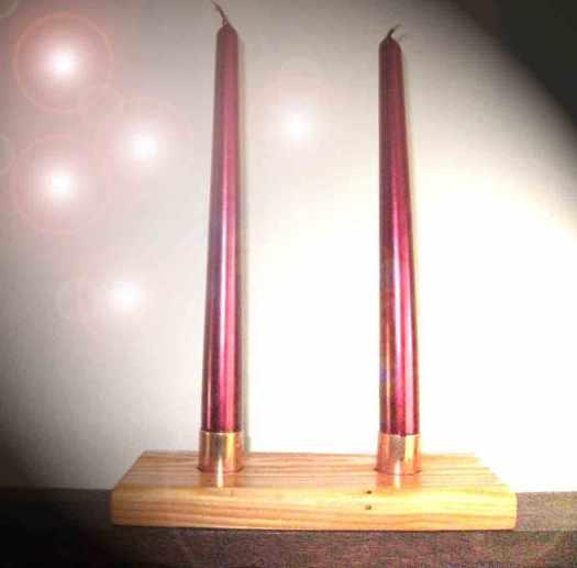 Kerzenhalter mit Kupfer