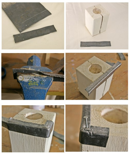 Teelichthalter mit Metallrand herstellung und anleitung
