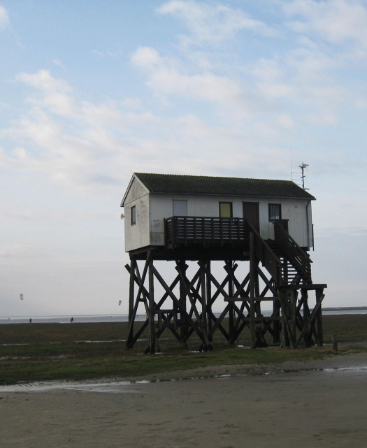 Pfahlbauten in Sankt Peter Ording