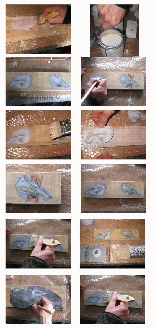 Schlüsselbrett mit Papierapplikation