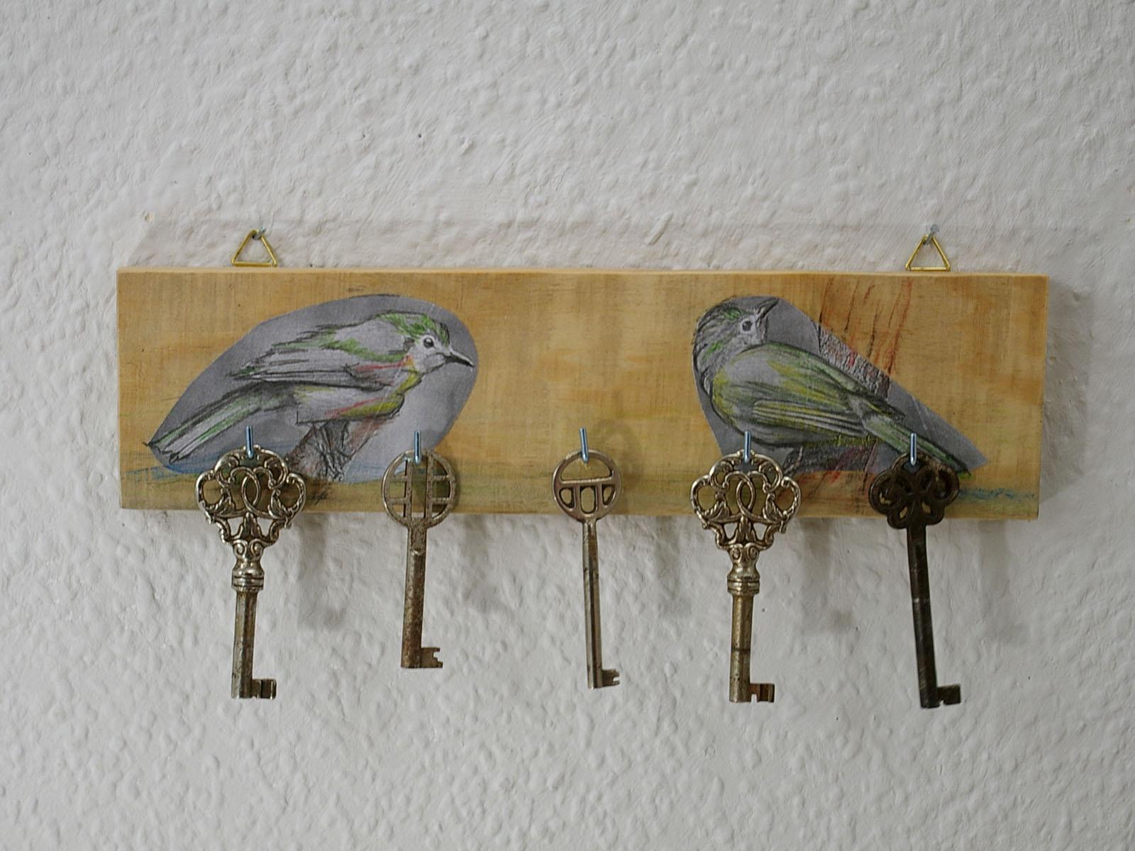 Vogel aus Papierapplikation