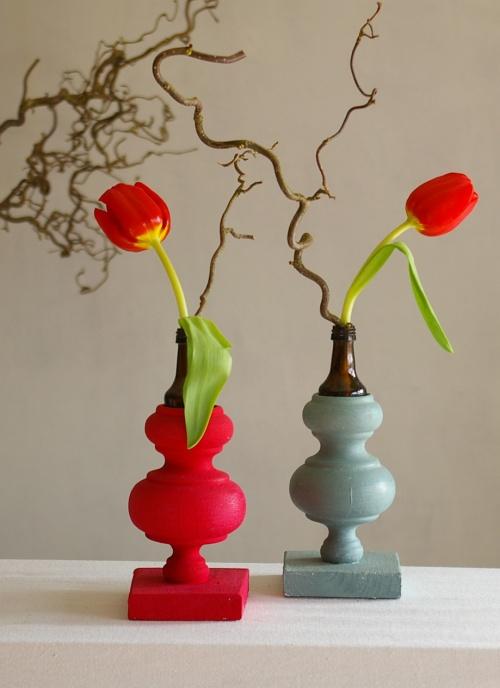 diy vase aus gardinenstange