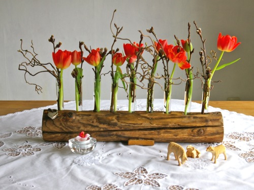 Tischdeko aus Treibholz