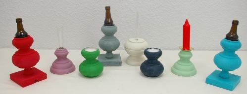 Upycycling Vasen und Kerzenständer