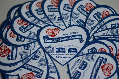 Flyer Kunsthandwerkermarkt in Wismar