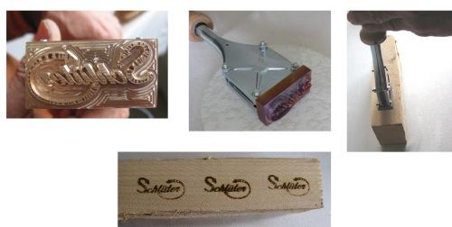 Stempel testen, branding