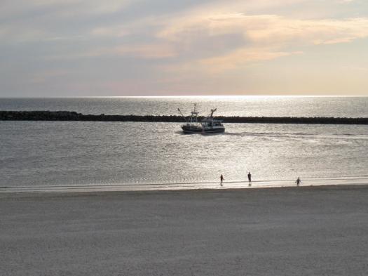 Hvide Sande hafenausfahrt