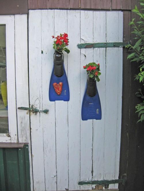 Taucherflossen für Blumen