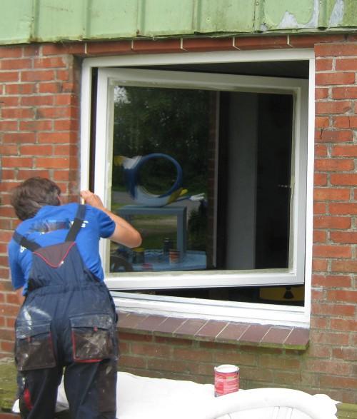 Fenster weiss anmalen