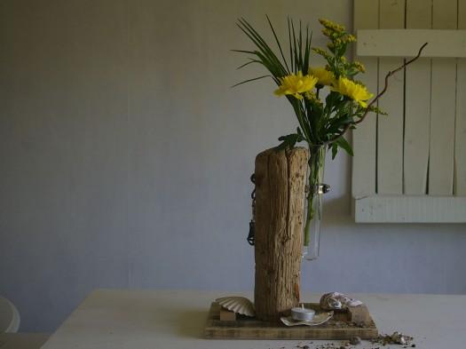 Treibholz wird Vase